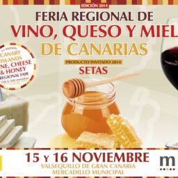 Cartel de la V Feria del Vino, Quesos y mieles de Canarias